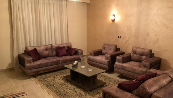 New flat for rent furnished in sheikh Zayed city