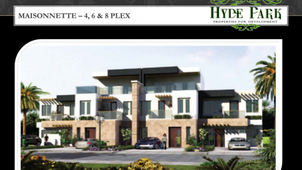 finished town house at Hyde Park - New Cairo
