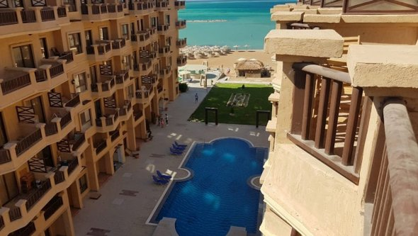 Studio 49m2 in Turtles Beach Resort with private b, Red Sea / Hurghada